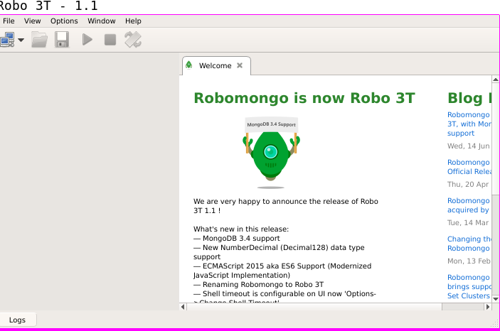 Robomongo (Robo-3T) high DPI settings for Linux and Mac